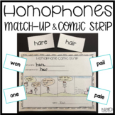Homophone Match-Up and Comic Strip Activity