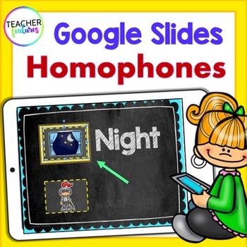Google Classroom Homophones Activities & Matching