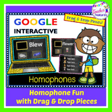Google Classroom Activities MATCHING HOMOPHONES Grammar