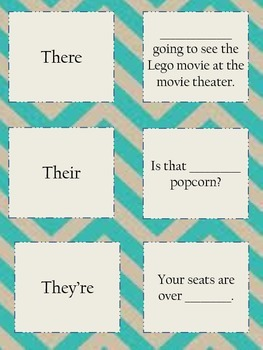 Homophones Matching Cards