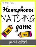 Homophones Matching Cards - Pencil Edition