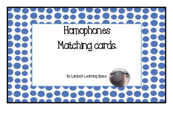 Homophones Matching Game.