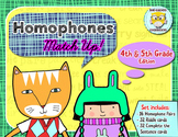 Homophones Matching Game, 4th-5th Grades