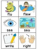 Homophones Word Matching Literacy Center
