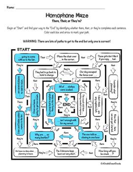 Homophones Maze Bundle
