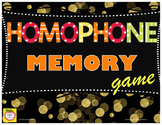 Homophones Memory Game - centers - guided reading