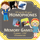 Homophones Memory Games - PowerPoint Games - Language - Di