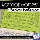 Homophones Mentor Sentences