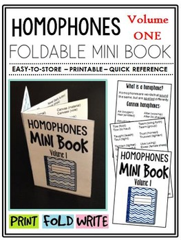Homophones Mini-Book (A Perfect Addition to an ELA Interactive Notebook)