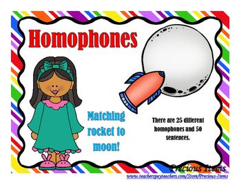 Homophones - Moon and Rockets