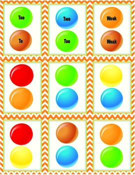 Homophones Pack (Candy Theme)