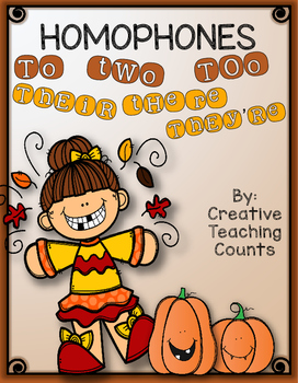Homophones Pack  - FALL themed