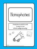 Homophones Packet