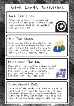 Homophones Pair Cards