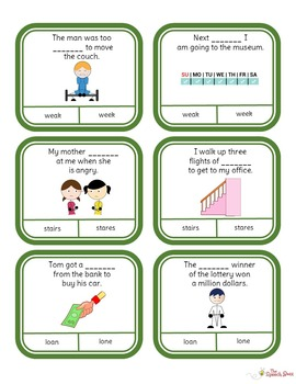 Homophones: Picture and Task Cards (STACK)