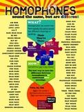 Homophones Poster