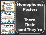 Homophones Posters: There, Their, and They're
