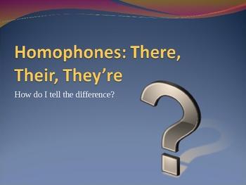 Homophones Power Point