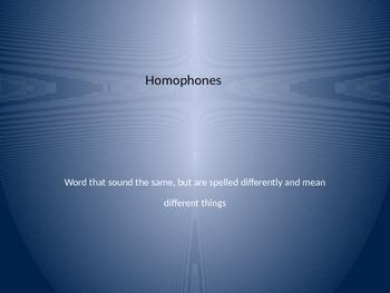 Homophones PowerPoint