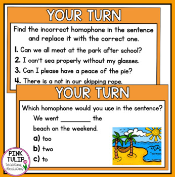 Homophones PowerPoint - Interactive, full lesson