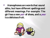 Homophones PowerPoint Animations & Voice