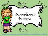 Homophones Practice