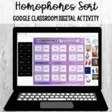 Homophones Sort: Google Classroom Digital Activity [SOL 4.4b]