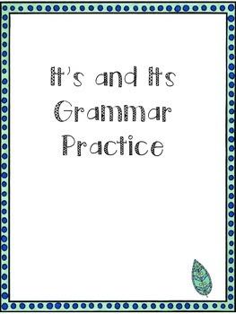 Homophones Practice: It's and Its
