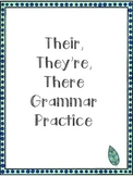 Homophones Practice: Their, There, They're