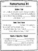 Homophones Practice Worksheets - Set of 5 Common Core Aligned