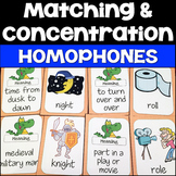 Homophones Matching Definition & Picture Cards