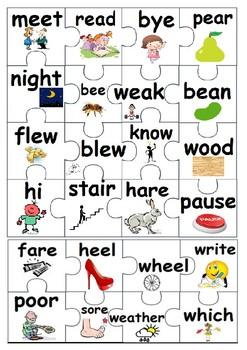 Homophones Puzzle Piece