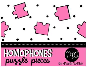 Homophones Puzzle Pieces Activity