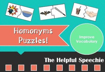 Homophones Puzzles - Vocabulary Activity