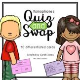 Homophones Quiz and Swap