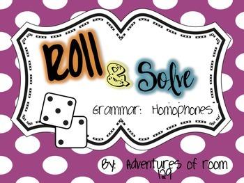 Homophones Roll & Solve