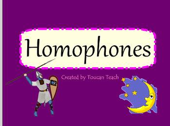 Homophones SMARTBoard Activitites