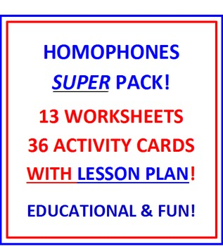 HOMOPHONES SUPER PACK!