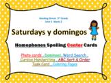 I Love Saturdays y domingos  - Homophones Photo CENTER Cards ; Reading Street
