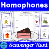 Homophones Scavenger Hunt