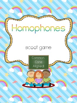 Homophones Scoot- Common Core Aligned