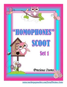 Homophones  Scoot - Set 1