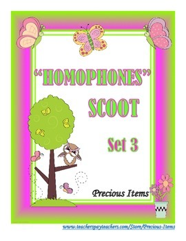 Homophones Scoot - Set 3