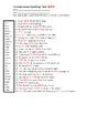 Homophones Spelling Assessment