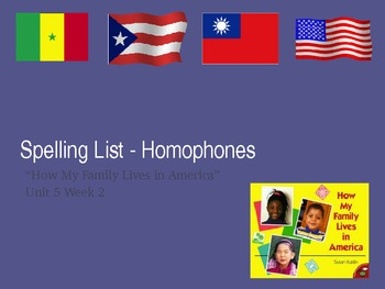 Homophones Spelling List