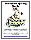 Homophones Spelling Word Work Packet