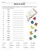 Homophones Spelling Word Work Packet