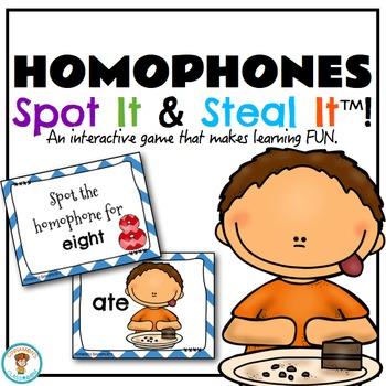 Homophones Spot It & Steal It Game!