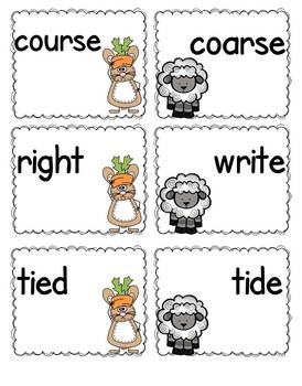 Homophones, Synonyms and Antonyms
