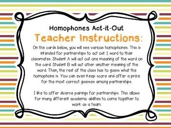 Homophones Supplemental Unit